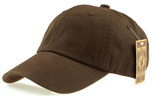 RufnTop Black Eagles 100% Cotton and Denim Washed Classic Dad Hat Plain Dyed Low Profile Baseball Cap(Brown OS)