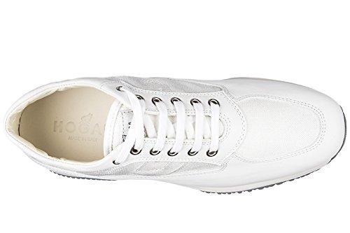 Hogan chaussures baskets sneakers femme en cuir interactive blanc