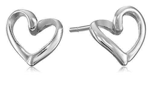 Sterling Silver Open Heart Post Earrings