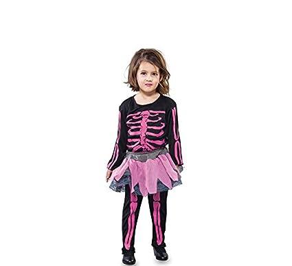 Fyasa 706229-t00 esqueleto niña disfraz, rosa, pequeño ...