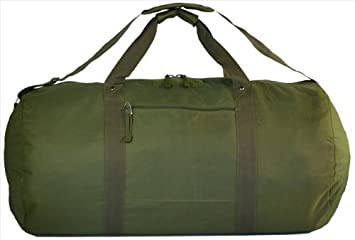 a11d7992f Explorer Bags Round Duffel with Velcro, Olive Drab Green, 31 x 16 x ...