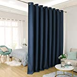Deconovo Privacy Room Divider Curtain Thermal Insulated Blackout Curtains Screen Partition Room Darkening Panel for Apartment, Studio, 15ft Wide x 8ft Tall 1 Panel Navy Blue