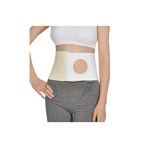 Ostomy Support Belt Hernia Abdominal Binder Stoma Band for Colostomy Patients, Prevent Parastomal Hernia, Hole 3.14