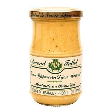 Green Peppercorn Mustard Fallot French Dijon Mustard 7 oz, Three by Edmond Fallot by Edmond Fallot