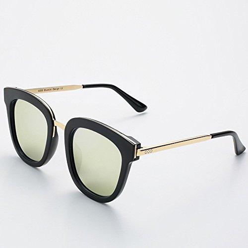 sol Mujer guía redondas cuadrada Gold verano UV400 de polarizadas Sunglasses TL de gafas gafas metálica Hombre Silver xqTXnXE