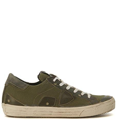 Sneaker Philippe Model Bercy en canvas verde militar Verde