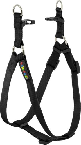 Kakadu Pet Empire Adjustable Nylon Step In Dog Harness, 3/4″ x 16-25″, Midnight  (Black), My Pet Supplies