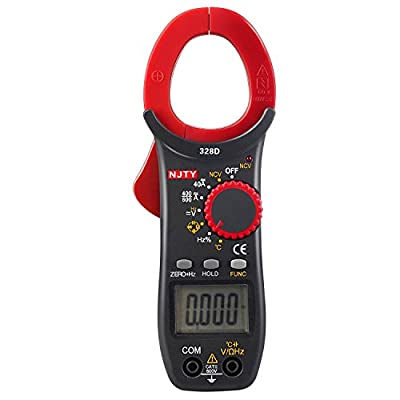 ELIKE 328D 600A AC/DC Current Auto-Ranging 3999 Digital Clamp On Meter & Multimeter with NCV,Diode,Continuity,Temperature ,Frequency and Capacitance Tester