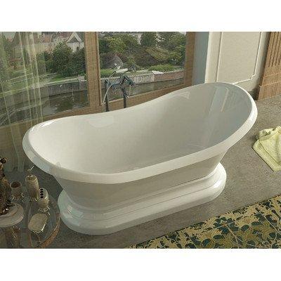 Soaker corner oval bathtub biscuit for Best soaker tub for the money