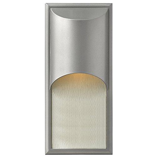 Hinkley 1834TT, Cascade Cast Aluminum Outdoor Wall Pocket Sconce Lighting, 100 Total Watts, Titanium