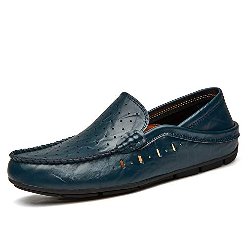 On LoaferInsole dal Blue Driving Hollow 41 Dimensione Color semplice Mocassini EU design Men's Hollow Blue Casual Flat Scarpe Ofgcfbvxd Slip PU Flat qP0x4X