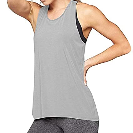 ee99e199873e0 Amazon.com  Women s Yoga Tank Top Sport Tops for Fitness Gym Racerback Tank  Top Camisole Elastic Sleeveless T-Shirt Vest Shirt Toponly  Arts