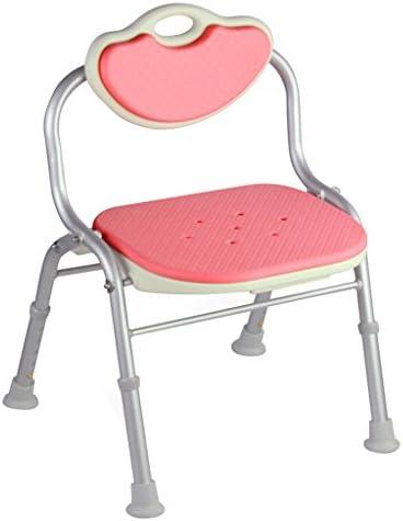 Cqq Badestuhl Duschstuhl zusammenklappbar -Anwendbar für ältere Menschen, Schwangere, Behinderte (Farbe : Rosa)