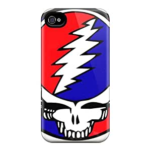 TammyCullen Iphone 4/4s Shock-Absorbing Hard Phone Case Support Personal Customs HD Grateful Dead Band Pattern [JkU18527pkYm]