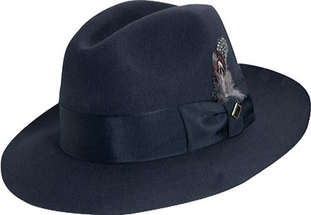 1950s Men's Clothing Navy Stacy Adams SAW536 Mens Sa Cannery Row Wool Hat Hats NAVY - 3 $54.00 AT vintagedancer.com