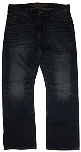 American Eagle Outfitters Mens Original Boot Denim Blue Jeans, 36 x 30