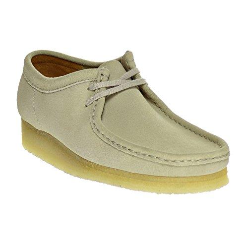 Clarks Wallabee Men's Boots Off White 26114503 (8.5 D(M) US)