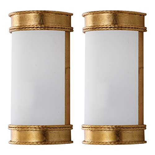 Safavieh Lighting Collection Florence Wall Sconce 12-inch Gold (Set of 2)