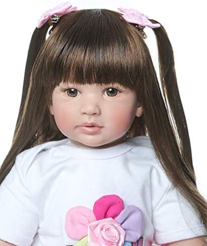 RABPIV Reborn Baby Dolls 24 inch 61cm Lovely Realistic Babies Reborn Toddler Dolls Girls Lifelike Silicone Kids Safe Gifts