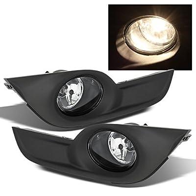 For 2013 2014 2015 Nissan Altima 4DR Sedan Black Bezel Clear Lens Driving Fog Light + Switch + Wiring: Automotive