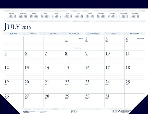 House of Doolittle July 2015 to August 2016 Academic Year Desk Pad Calendar, 22 x 17 Inches (HOD155HD-16)