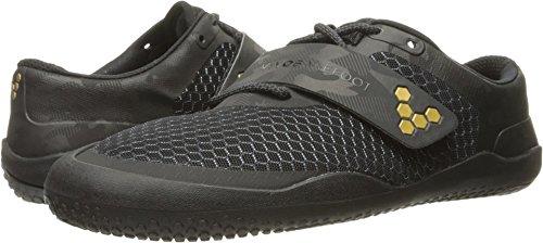 Vivobarefoot Men's Motus Fitness Training Court Cross-Trainer-Shoes, Black/Gold, 45 D EU (12 US)