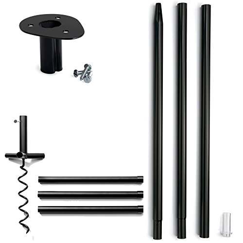 Droll Yankees Garden Pole - Droll Yankee UNBS Ultimate Pole Support System for Nest Boxes and Bird Houses