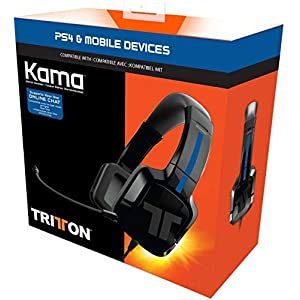 Mad Catz Tritton Kama Stereo Gaming Headset for PS4, PS Vita, Mobiles & Tablets (Black)