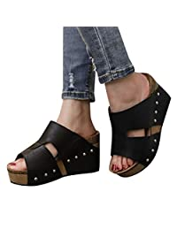 Comfortable Wedge Shoes On Sale Clearance for Women!melupa Boho Casual Slipper