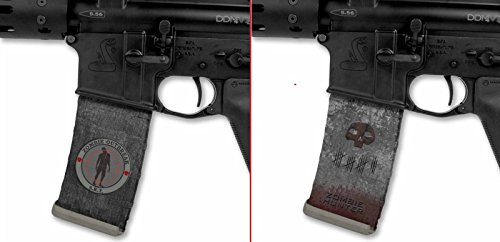 Ultimate Arms Gear Mag Wraps Zombie Outbreak S.R.T. SRT Special Response Team + Zombie Tomb Stone Tombstone Hunter AR15/M4/M16 .223 5.56 30rd Mag Waterproof Durable Skin Kit - USA MADE
