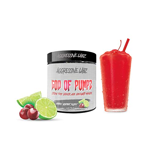 Aggressive Labz GOD of PUMPZ – Extreme Nitric Oxide Booster – Massive Pumps (Cherry Limeade Slushy)