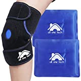 Blue Neck Ice Packs for Injuries - Cold Compress Shoulder Therapy Wrap Shoulder Ice Pack - Hot & Cold Therapy Pack Gel Ice Packs for Swelling (Color: Knee Ice Pack)