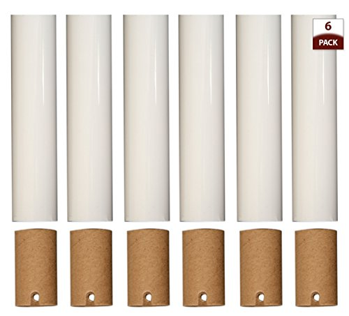 Royal Designs Chandelier Socket Covers, Paper Insulation, White, 4 in, Set of 6 (SCP-5001WH-6)