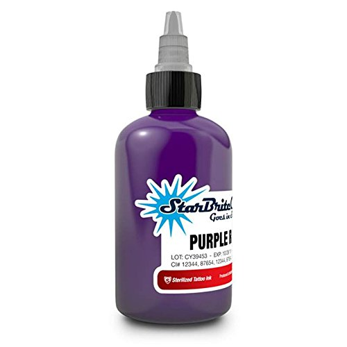 StarBrite Colors Sterilized Tattoo Ink Purple Rain 1/2 oz - Purple Tattoo