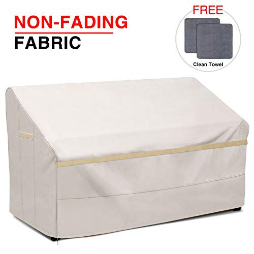 """Patiassy 100% Waterproof Patio Deep Seat Sofa/Loveseat Cover 60"""" W x 35"""" D x 32"""" H - Heavy Duty 3 Layer Ripstop Outdoor Furniture Covers with Free 2 PCS Towels, 5 Years Warranty"""