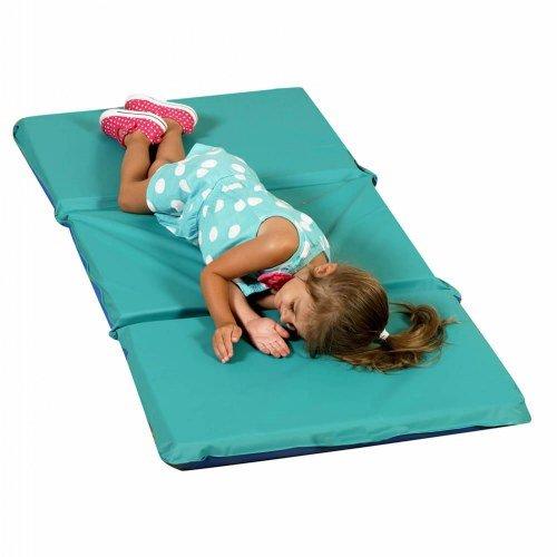 Children's Factory 3-Fold 2'' Germ Guard(TM) Rest Folding Mat - Teal/Blue (Single)