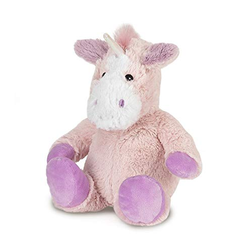 Warmies Plush Heat Up Microwavable Soft Cuddly Toys With A Lavender Scent, Unicorn Pink