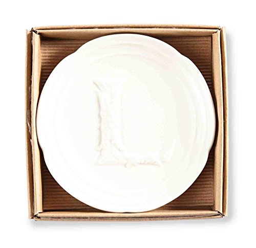 Mud Pie Boxed Initial Accessory Dish-L