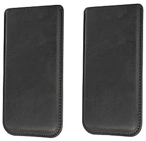 Funda para Huawei Ascend Y330Funda Piel Carcasa Sleeve Funda Case Piel Smartphone Móvil Cover Funda Cartera Funda de piel en negro