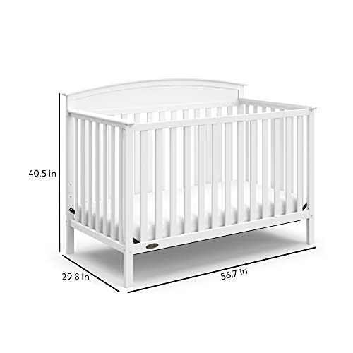41SjdmH1CBL - Graco Benton 4-in-1 Convertible Crib, White, Solid Pine And Wood Product Construction, Converts To Toddler Bed Or Day Bed (Mattress Not Included)