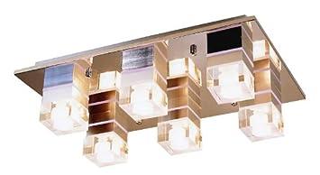 Lúzete - Plafon 6 led control remoto rgb