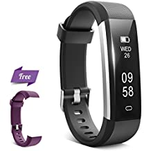 Fitness Tracker, HQBEi N5 Activity Tracker: Pedometer and Sleep Monitor, Bluetooth Fitness Wristband, Waterproof Activity Wristband with Free Replacement band with Buckle for Android & IOS