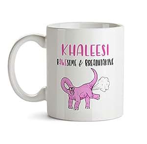 Amazon.com: Khaleesi Name Gift Mug - AA4 Funny Dinosaur