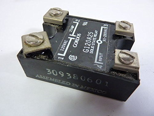 Gordos/Crouzet G120A25 (309380601) Solid State Relay 120Vac 25Amp