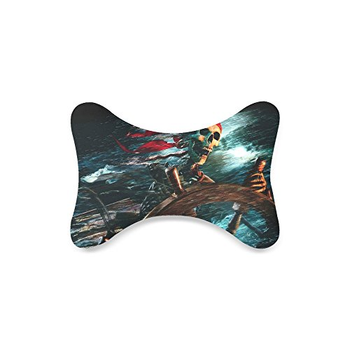 Pirates Of The Caribbean Custom Car-Seat Neck Pillow Travel Pillow (Only One) - Caribbean Pillowcase