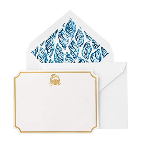 Lilly Pulitzer Women's Correspondence Cards Set of 10 with Blank Interior and Envelopes (Drop ()