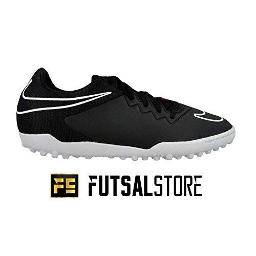 Nike Hypervenomx Pro TF, Botas de Fútbol para Hombre Negro / Blanco / Rojo  (Black/White-Challenge Red)