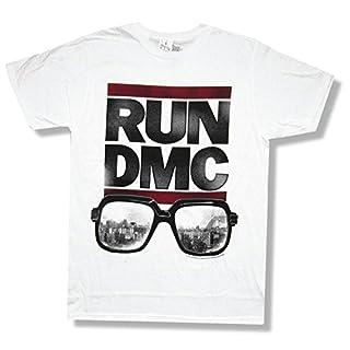 "Run DMC ""Sunglasses"" White T-Shirt New Adult"