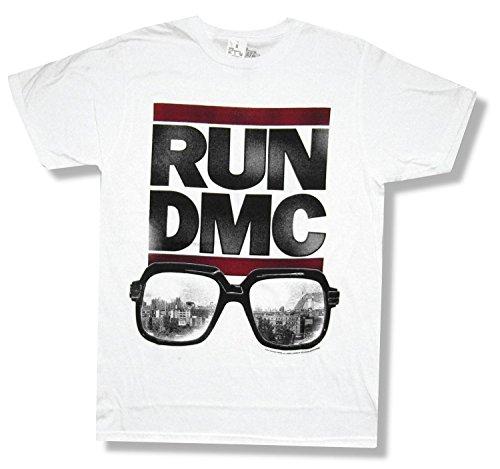 Run DMC Sunglasses White T-Shirt New Adult