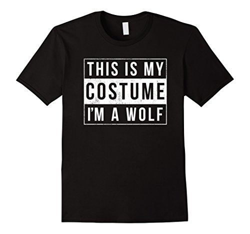 Mens Funny I'm A Wolf Halloween Costume Shirt XL Black